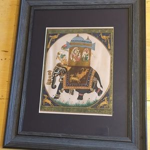 Framed Elephant wall art 14 inches by 17 inches